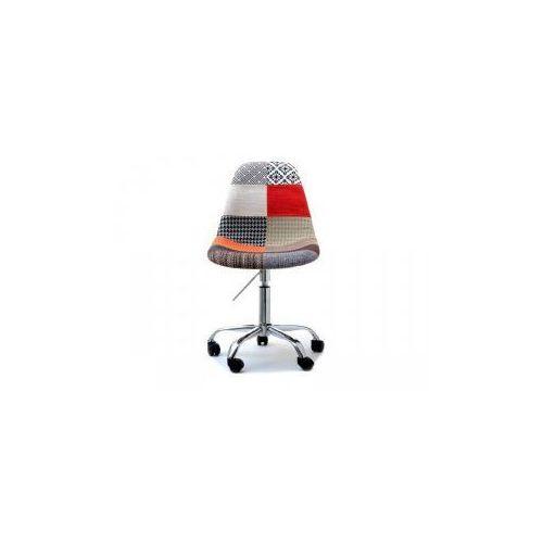 Krzesło kosmetyczne sardynia tapicerowane patchwork marki Vanity