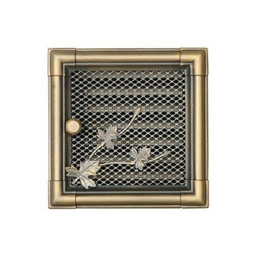 Kratka kominkowa retro z żaluzją złota patyna 16x16cm marki Parkanex
