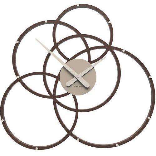 Zegar ścienny do ciastkarni Black hole CalleaDesign czekoladowy (10-215-69)