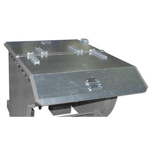 Pokrywa składana do przechylanego pojemnika, do poj. 0,5 m³, ocynkowanie. 2-stro