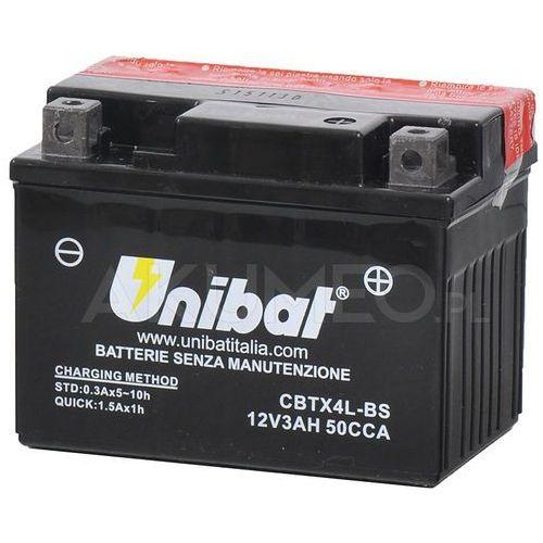 Unibat Akumulator agm cbtx4l-bs 12v 3ah 50a prawy+