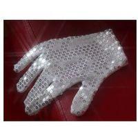 Rękawiczka z cekinów