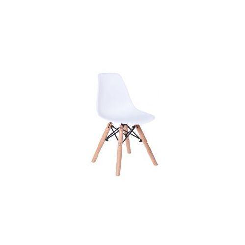 Krzesło Monza Kids - małe krzesełko dla dziecka w kolorze białym