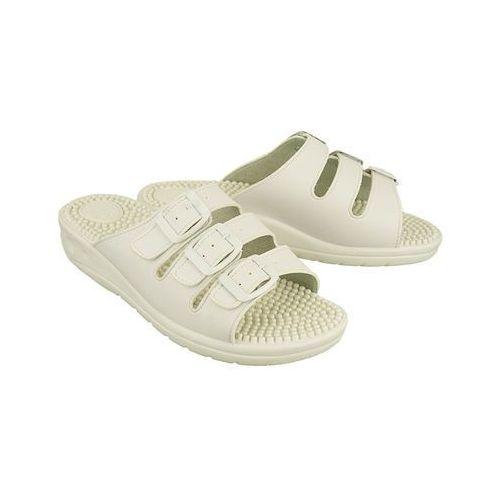 054fr biały, klapki fakirki damskie - biały, Solo