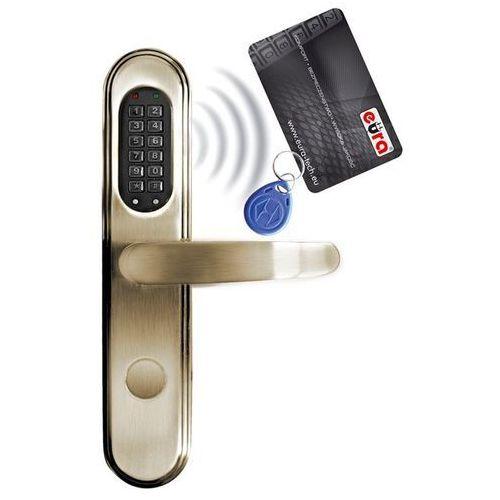Eura-Tech Szyld zamka elektromechanicznego ''EURA'' ELH-40B9 - z czytnikiem kart zbliżeniowych (RFID) i zamkiem szyfrowym, bateryjny: Kolor obudowy - mosiądz B91A741 - mosiądz - Rabaty za ilości. Szybka wysyłka. Profesjonalna pomoc techniczna. (5905548273228)