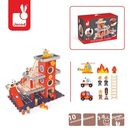 Janod - Remiza garaż drewniany z 10 akcesoriami - produkt z kategorii- Garaże