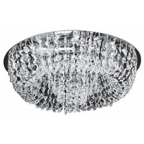 Plafon LAMPA sufitowa KRIS VEN P-E 1154/4 okrągła OPRAWA glamour LED 46W z kryształkami przezroczysta