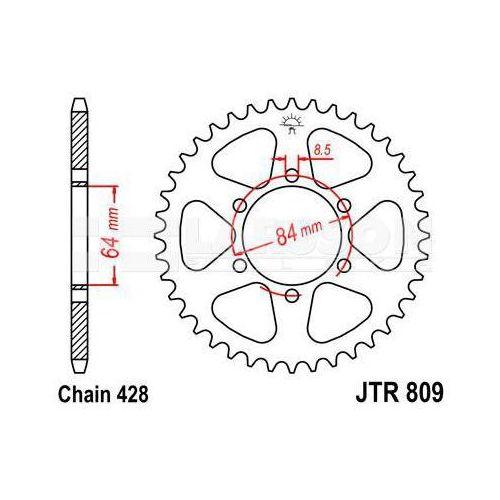 Zębatka tylna stalowa JT 809-55, 55Z, rozmiar 428 2301476 Suzuki TS 125, DR 125