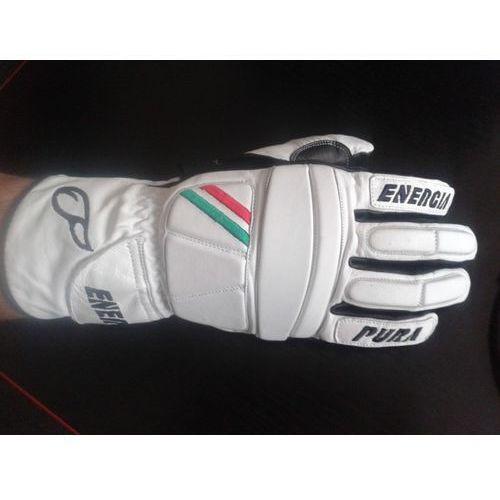 Rękawice narciarskie Giant Slalom Leather Gloves with Protectors Biały/Czarny 10