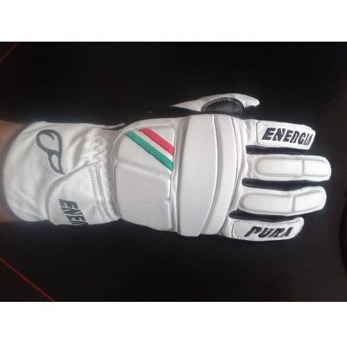 Rękawice narciarskie Giant Slalom Leather Gloves with Protectors Biały/Czarny 8