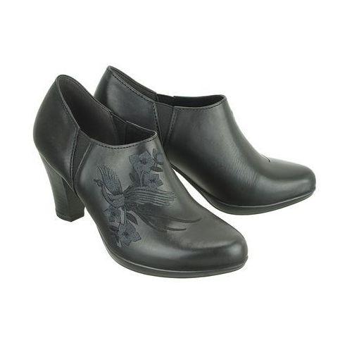 MARCO TOZZI 24402-21 002 black antic, półbuty damskie, kolor czarny