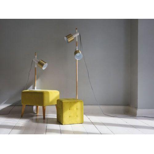 Beliani Lampa biurowa biała - stołowa - nocna - gabinetowa - owens