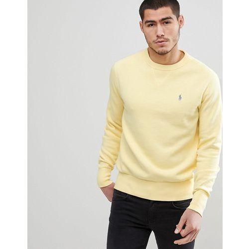 Polo Ralph Lauren Crewneck Sweatshirt Polo Player in Washed Yellow - Yellow, kolor żółty