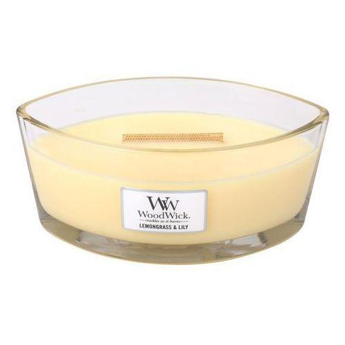 WoodWick - Świeca Hearthwick Lemongrass & Lilly 60h