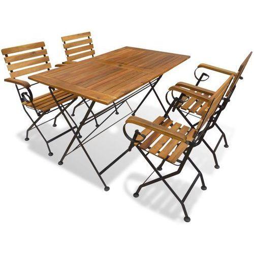 Vidaxl zestaw mebli ogrodowych, 5 części, drewno akacjowe (8718475573388)