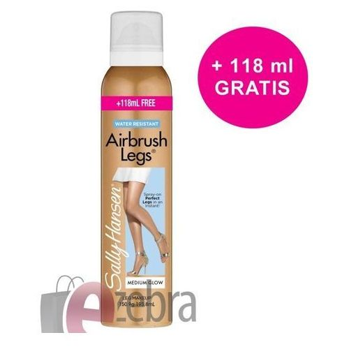 Sally hansen  airbrush legs makeup spray 193,8ml w rajstopy w sprayu medium glow
