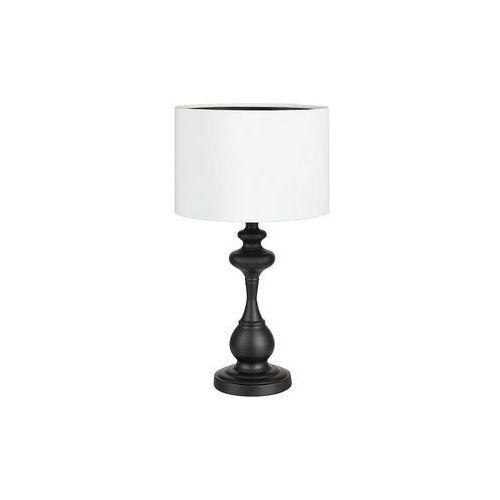 Stojąca LAMPA stołowa CONNOR 107371 Markslojd abażurowa LAMPKA klasyczna biała czarna (7330024578098)
