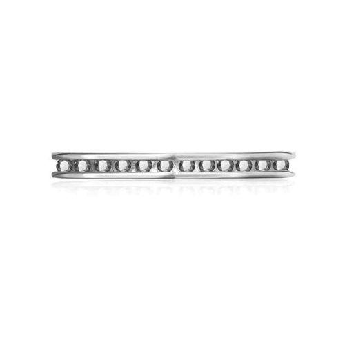 YES Rings Collection - srebrny pierścionek z białymi cyrkoniami