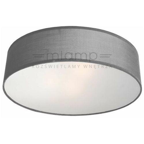 Abażurowa LAMPA sufitowa ALTO LP-81008/3C GRY Light Prestige plafon OPRAWA okrągła szara, kolor biały;szary;czarny