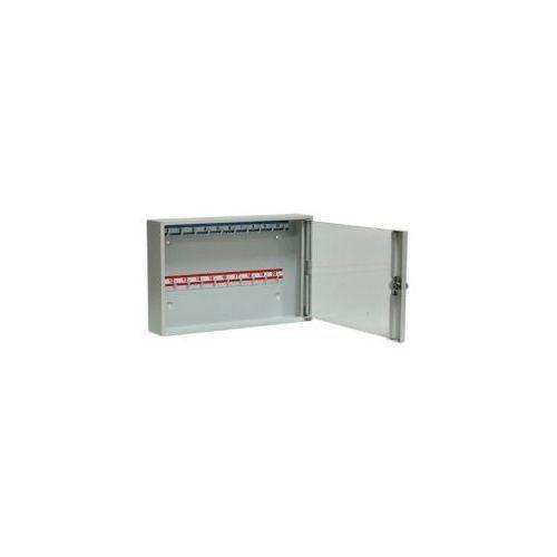 Szafka na klucze SK 20/S z haczykami mocowanymi na stałe przeszklona LEOMAR