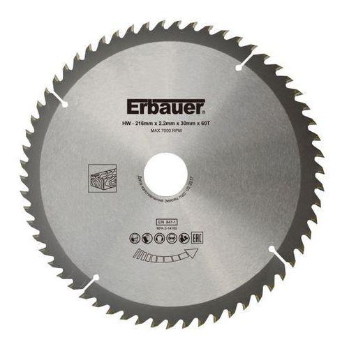 Erbauer Tarcza do drewna 216 x 30/25/20/16 mm 60t (3663602813040)