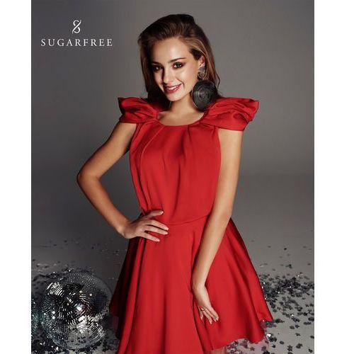 Sukienka Adara w kolorze czerwonym, w 4 rozmiarach