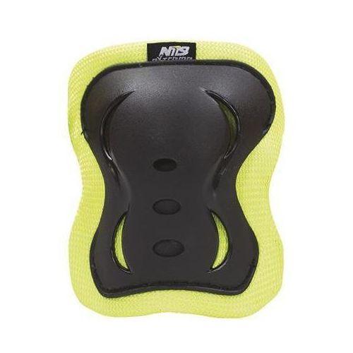 Zestaw ochraniaczy h726 czarno-limonkowy (rozmiar l) marki Nils extreme