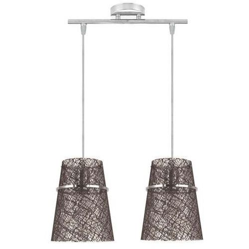 Candellux Lampa wisząca plasto 32-28198  abażurowa oprawa zwis wzorki brązowy