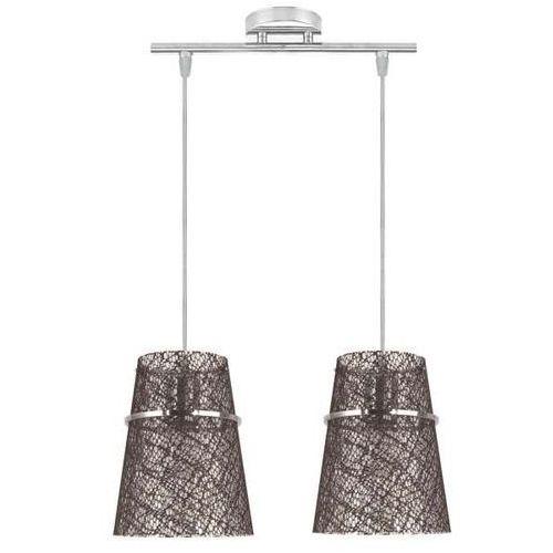 LAMPA wisząca PLASTO 32-28198 Candellux abażurowa OPRAWA ZWIS wzorki brązowy (5906714828198)