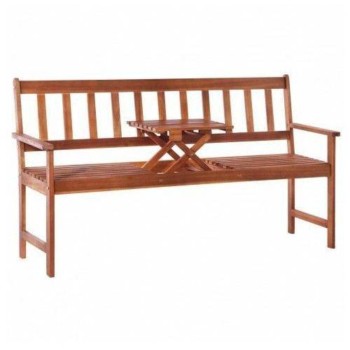 Ławka ogrodowa ze stolikiem tena - 158 cm marki Edinos premium