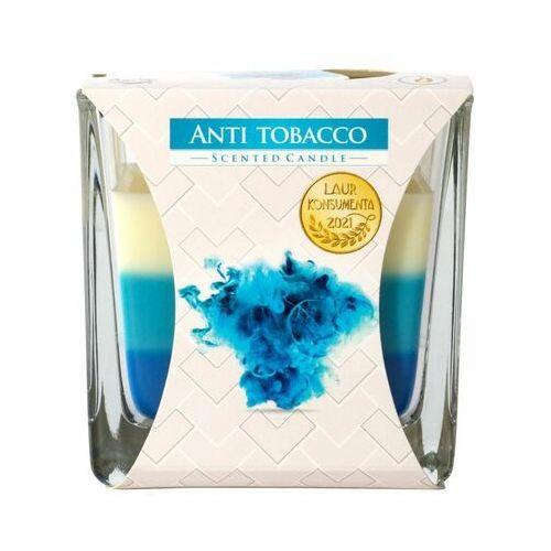 Bispol, snk80, świeca zapachowa trójkolorowa w szkle, antytabak, 1 sztuka (5906927027623)