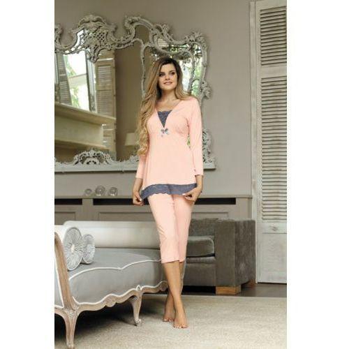 Babella Anastazja Brzoskwiniowa piżama damska