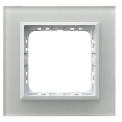 Ospel sonata r-1rgc/31/00 ramka pojedyncza biały białe szkło, grubość 4mm (5907577450854)