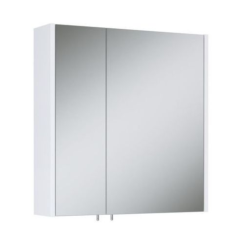 Szafka lustrzana bez oświetlenia TECHNO 600 2D WHITE ELITA (5907546828219)