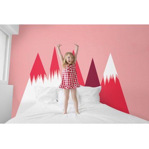 Naklejki na ścianę Zaśnieżone Różowe Góry