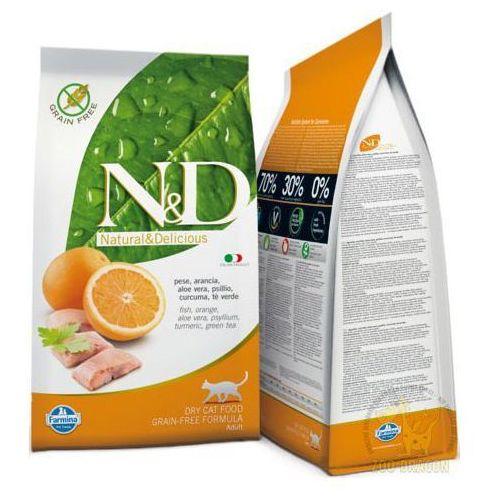Nd grain free fish & orange 5kg adult cat dla kota natural & delicious n&d marki Farmina