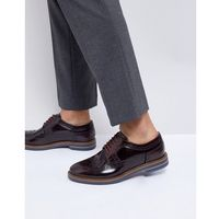 Base London Turner Leather Brogue Shoes in Red - Red