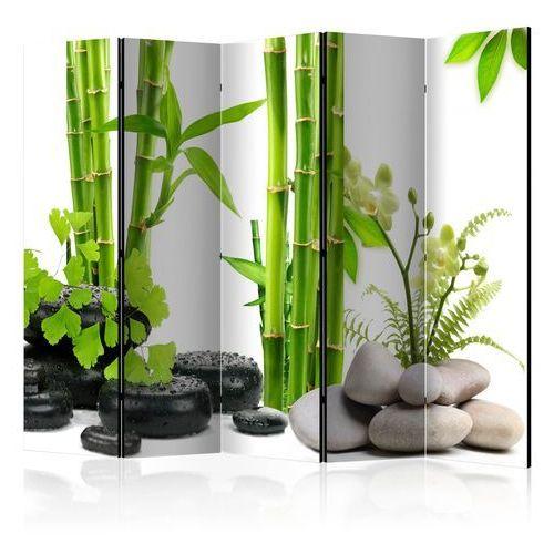 Artgeist Parawan 5-częściowy - bambusy i kamienie ii [room dividers]