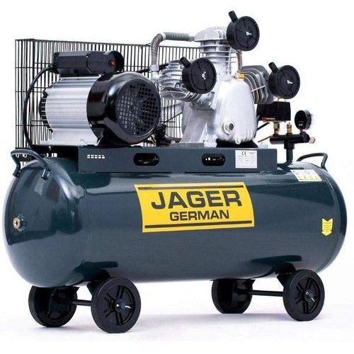 SPRĘŻARKA POWIETRZA TŁOKOWA KOMPRESOR TŁOKOWY OLEJOWY JAGER GERMAN 100L 8BAR 499L/Min 230V Mocna Rzecz, towar z kategorii: Sprężarki i kompresory