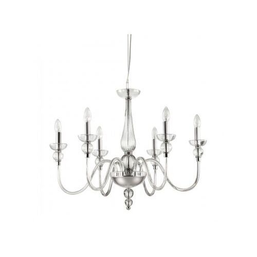Lampa wisząca DOGE SP6 TRANSPARENTE, kolor Srebrny