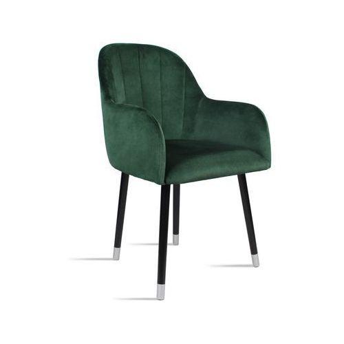 B&d Krzesło besso zielony/ noga czarny silver/ so260