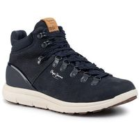 Pepe jeans Sneakersy - hike leather pms30562 navy 595