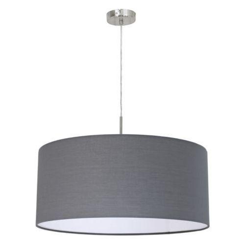 LAMPA wisząca PASTERI 31577 Eglo abażurowa OPRAWA zwis IP20 okrągły szary, kolor Szary