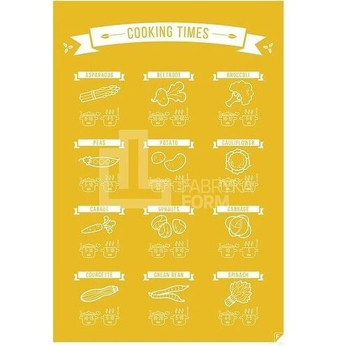Plakat Cooking Time żółty 40 x 50 cm, cocolen4050