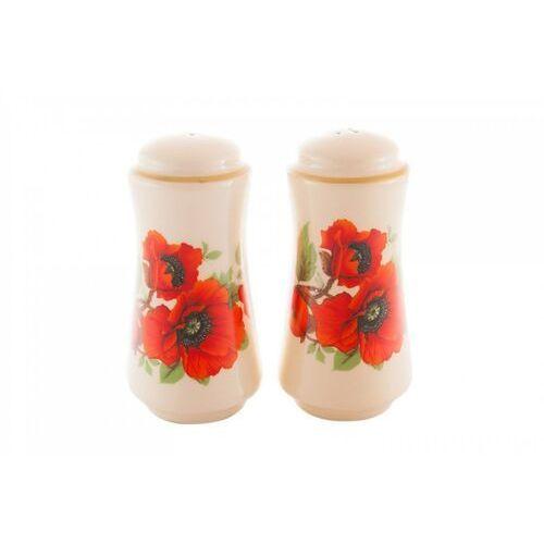 Solniczka pieprzniczka na sól maki kwiat marki Mieroszów