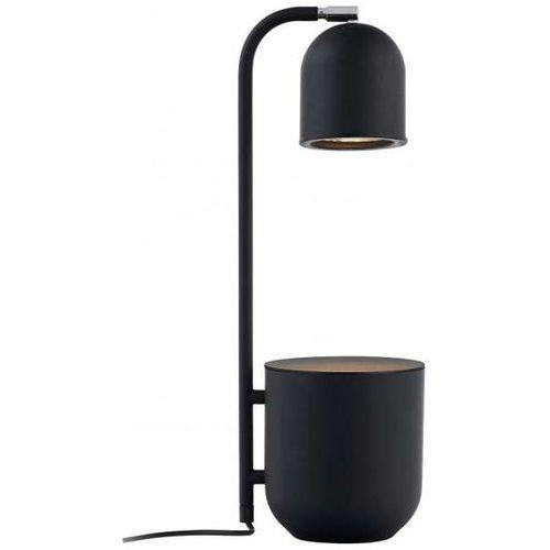 Kaspa Stołowa lampa stojąca botanica 40842102 biurkowa lampka metalowa doniczka dekoracyjna regulowana czarna (1000000567878)