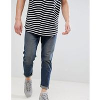 New Look Tapered Jeans In Mid Blue - Blue, jeansy