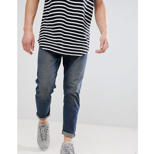 New Look Tapered Jeans In Mid Blue - Blue