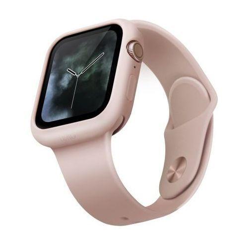 UNIQ etui Lino Apple Watch Series 5/4 44MM różowy/blush pink - Różowy (8886463671139)