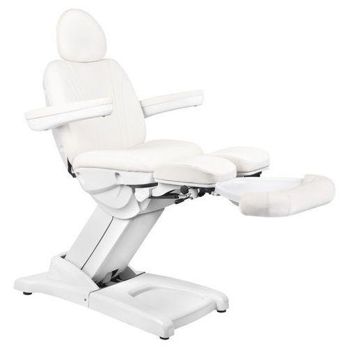 Fotel kosmetyczny elektr. azzurro 872s pedi-pro 3 siln. biały marki Activ
